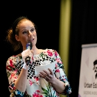 Fiona Veraa pitcht haar initiatief op de Proeverij Urban Education 17 april 2019
