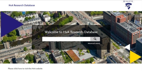 Homepage HvA Research Database
